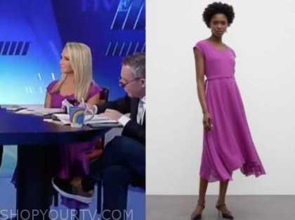 the five, Dana Perino, purple midi dress