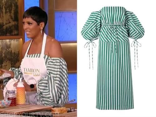 Tamron Hall, Tamron Hall show, green striped dress