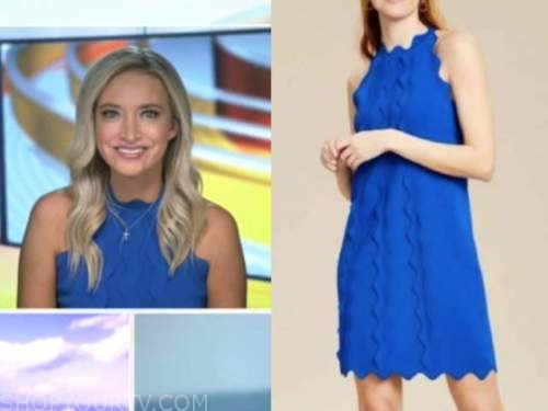 Kayleigh mcenany, outnumbered, blue scallop dress