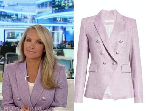 dana perino, America's newsroom, purple double breasted blazer