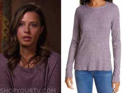Katie Thurston, the bachelorette, purple knit top