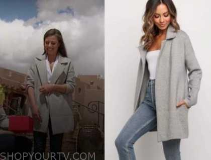 the bachelorette, grey coat, Katie Thurston