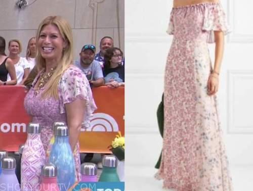 Jill Martin, pink floral maxi dress, the today show