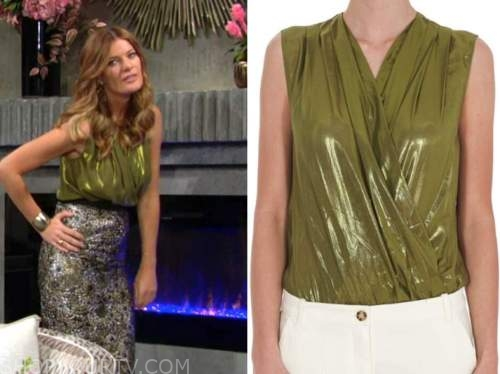 Phyllis Newman, Michelle stafford, the young and the restless, green metallic top