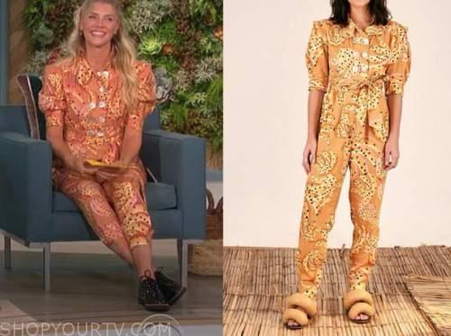 Amanda kloots, the talk, banana jumpsuit