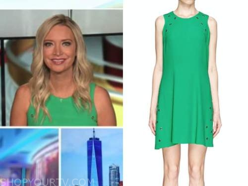 Kayleigh mcenany, outnumbered, green grommet dress