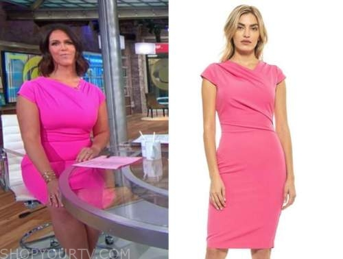 cbs this morning, pink dress, dana jacobson