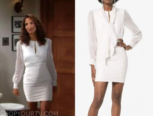 lily winters, Christel khalil, the young and the restless, white metallic dress