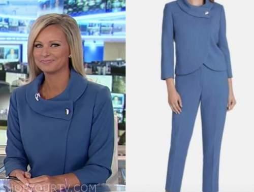 Sandra smith, blue roll neck jacket, America's newsroom