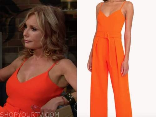 Lauren fenmore Baldwin, tracey Bregman, the young and the restless, orange jumpsuit