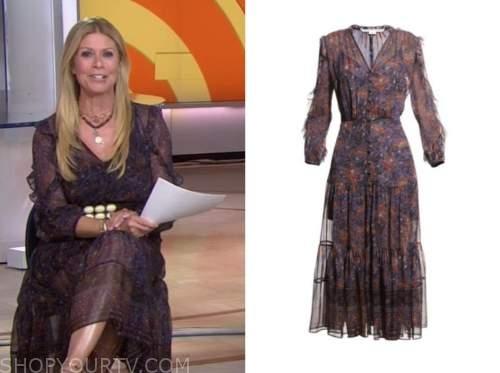 Jill Martin, the today show, paisley floral ruffle midi dress