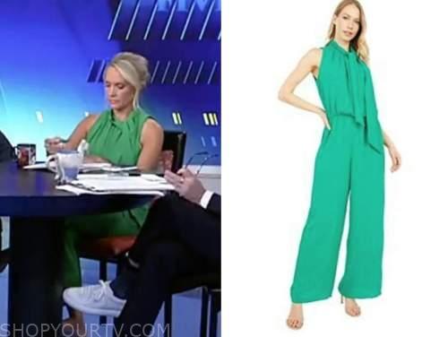 dana perino, the five, green jumpsuit