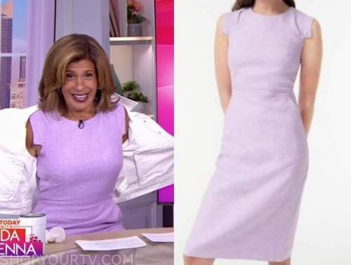Hoda Kotb, the today show, purple linen sheath dress