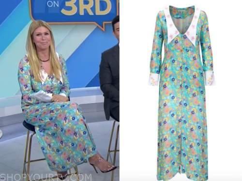 Jill martin, the today show, blue floral collar dress