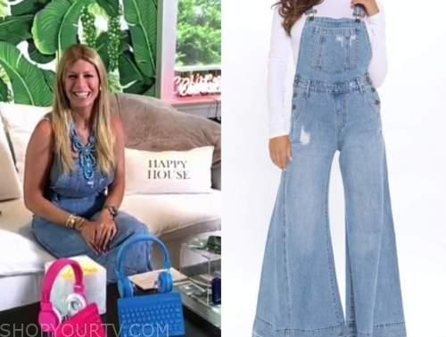 Jill Martin, the today show, denim overalls
