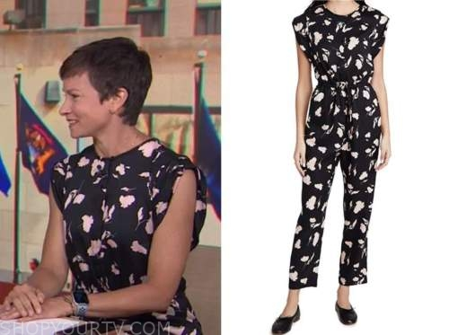 Stephanie Gosk, the today show, black and pink floral jumpsuit