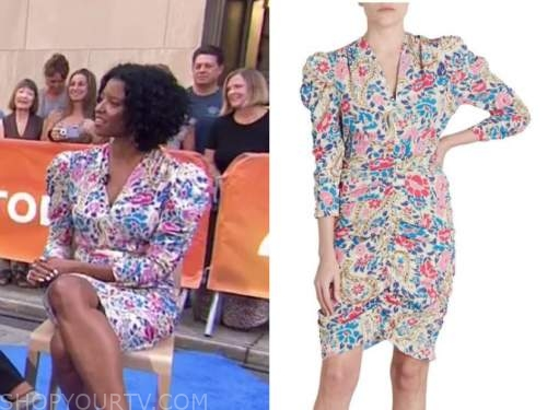 Renee Elise Goldsberry, the today show, floral dress