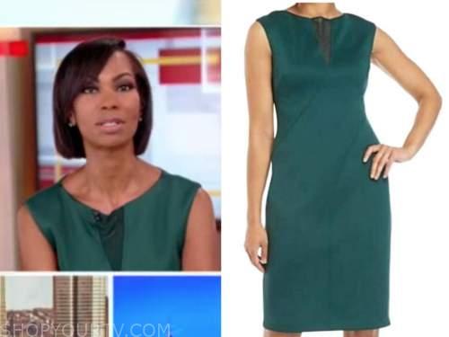 Harris Faulkner, outnumbered, Fox News, green dress