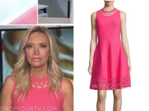 Kayleigh mcenany, outnumbered, pink knit dress