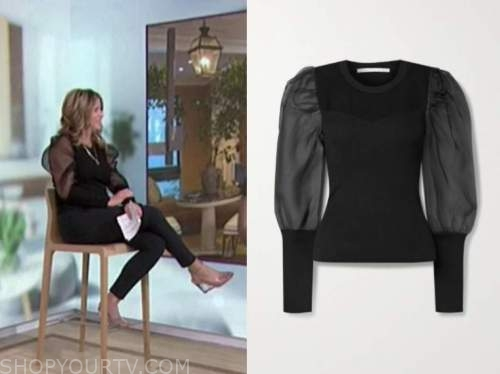 Jenna bush hager, the today show, black puff sleeve sweater