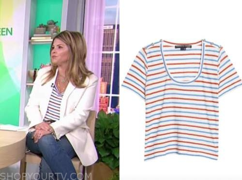 Jenna bush hager, the today show, striped t-shirt