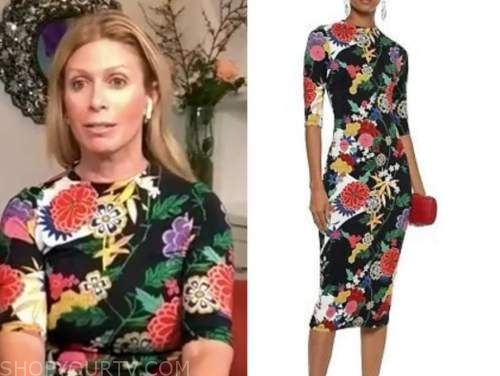 Jill Martin, the today show, black floral dress