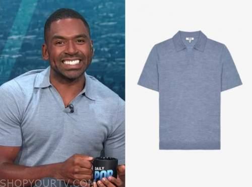 Justin Sylvester, blue polo shirt, E! news, daily pop