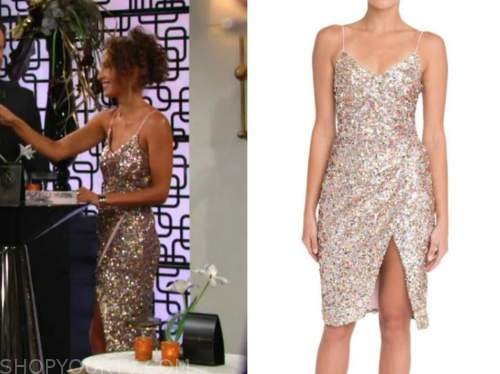 lily winters, Christel khalil, the young and the restless, sequin dress