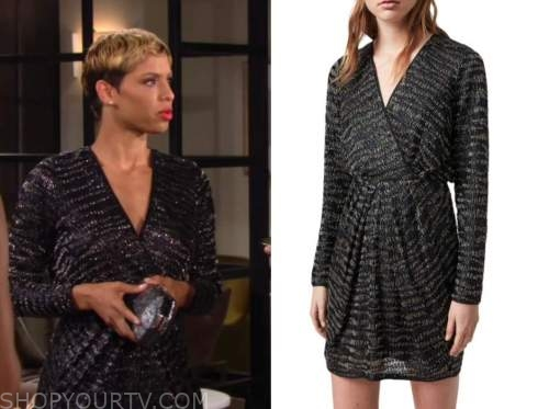 Elena Dawson, brytni spray, the young and the restless, embellished dress