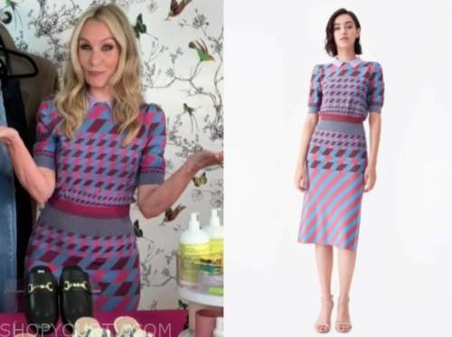 chassie post, the today show, knit polo top and skirt