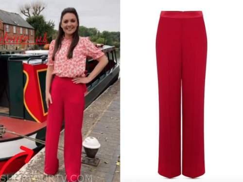 Laura Tobin, good morning Britain, red pants