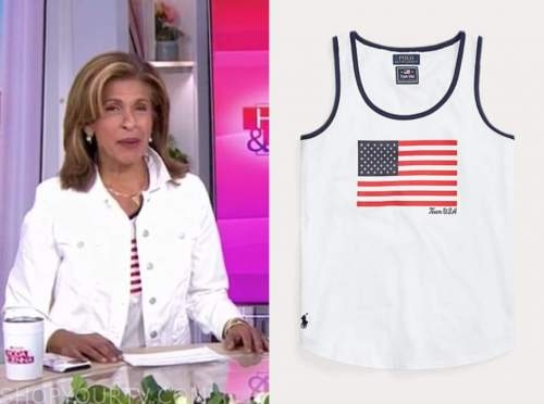 Hoda Kotb, the today show, American flag top