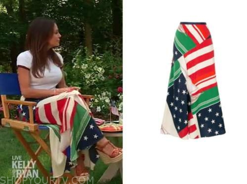 Bethenny Frankel, live with kelly and Ryan, American flag skirt