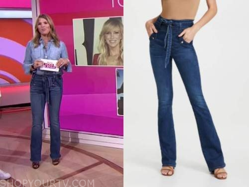 Jenna bush hager, the today show, tie waist jeans
