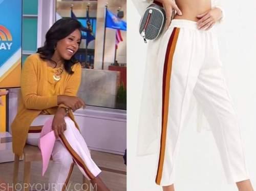 Sheinelle Jones, the today show, side stripe pants