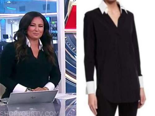 America's newsroom, Julie banderas, black and white shirt