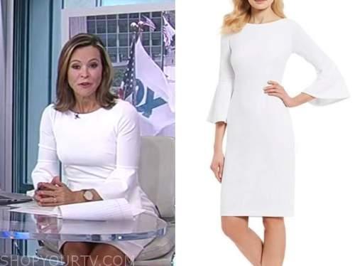 anita vogel, America's newsroom, white bell sleeve dress