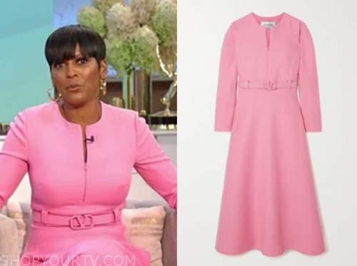 Tamron Hall, Tamron Hall show, pink zipper dress
