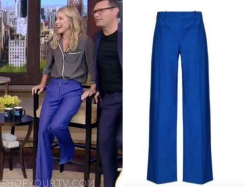 Kelly Ripa, live with kelly and Ryan, blue pants