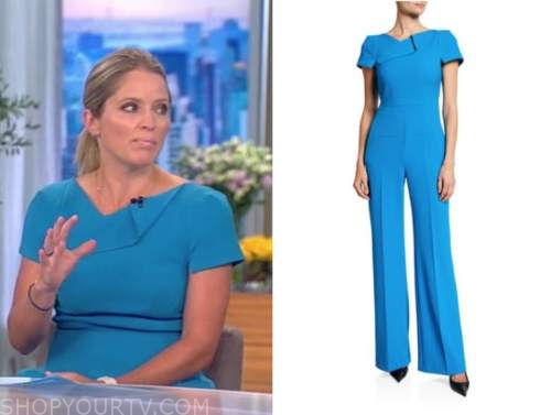 Sara Haines, the view, blue jumpsuit
