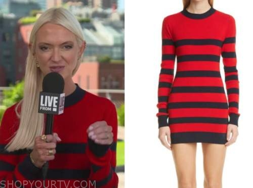 Zanna Roberts rassi, red striped knit dress, E! news, daily pop