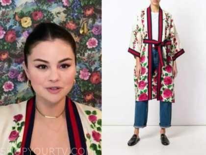 Selena Gomez, E! news, daily pop, floral kimono