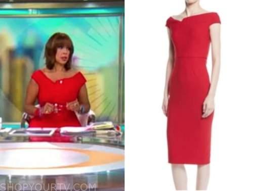 Gayle King, cbs mornings, red dress