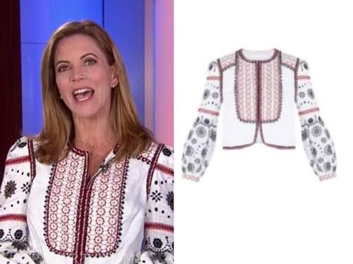 Natalie Morales, the today show, white embroidered top