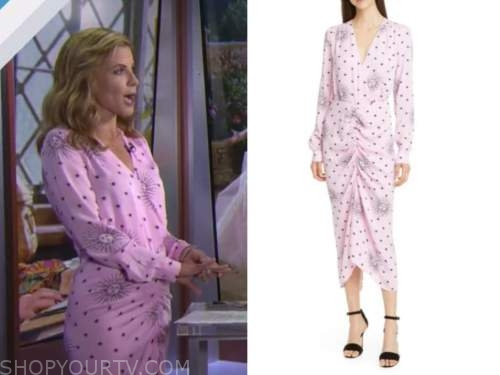 Natalie Morales, the today show, pink star dress