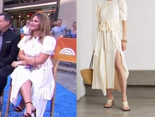 Jenna bush hager, the today show, ivory midi dress
