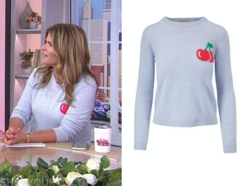 Jenna bush hager, the today show, grey cherry sweater