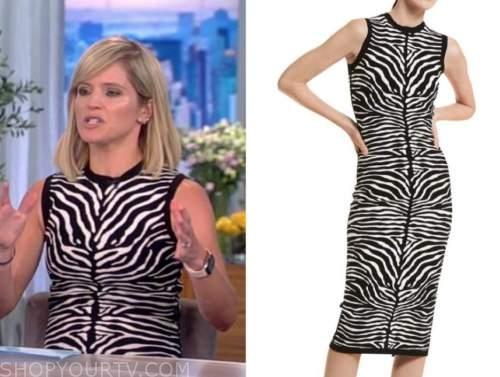 Sara Haines, the view, zebra knit dress