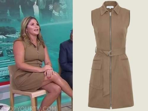 Jenna bush hager, the today show, brown zipper dress