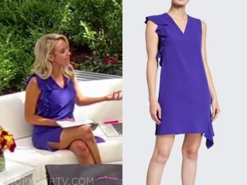 Kayleigh mcenany, outnumbered, purple ruffle dress